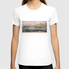 Panorama of West Point from Constitution Island by John Rubens Smith (c 1820) T-shirt