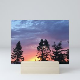 Magical PNW Sunset in Anacortes Mini Art Print