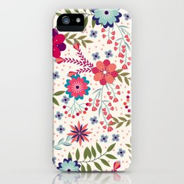 Colorful Floral Spring Pattern iPhone Case