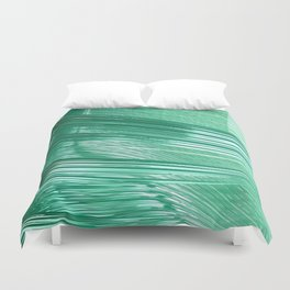 Green Mystery Abstract Duvet Cover