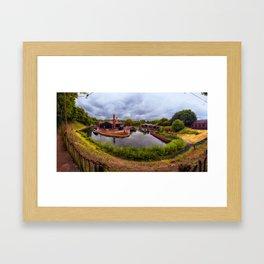 Black Country Living Museum Boat Yard Peaky Blinders Framed Art Print