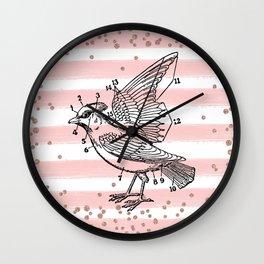 Bird anatomy Wall Clock