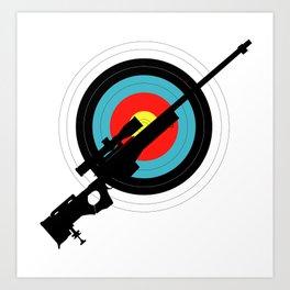 Target Shooting Art Print