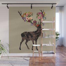 Spring Itself Deer Flower Floral Tshirt Floral Print Gift Wall Mural