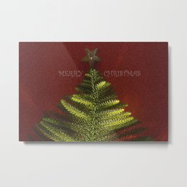 merry christmas tree Metal Print