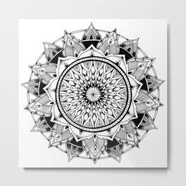 Depth - Mandala Metal Print