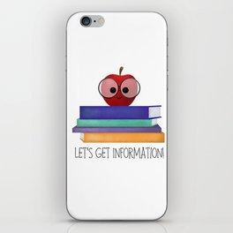 Let's Get Information! iPhone Skin