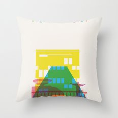 Shapes of Rio. Accurate to scale Throw Pillow