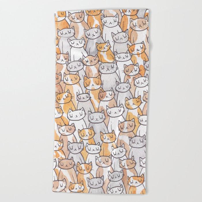 Sleepy Cats Beach Towel