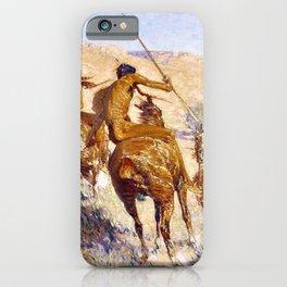Frederic Remington - Episode of the Buffalo Gun - Digital Remastered Edition iPhone Case