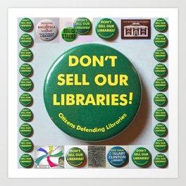 Citizens Defending Libraries Tote Bag Art Art Print