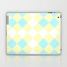 Checkers Yellow/Blue Laptop & iPad Skin