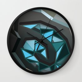 Home is where the hearth is. Wall Clock