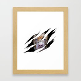 Pit Bull Torn Effect illustration Framed Art Print