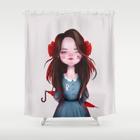 lady Shower Curtains featuring Lady by Anna Wintery