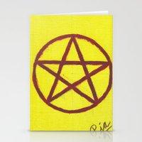 pentagram Stationery Cards featuring Pentagram by Ria-Ra