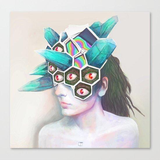 Crystal Head Canvas Print