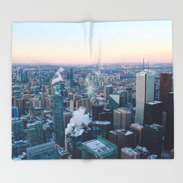 Toronto Sunset Throw Blanket