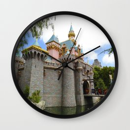 Sleeping Beauty's Castle (Daytime, no.1) Wall Clock