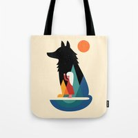 best friend Tote Bags featuring Best Friend by Andy Westface