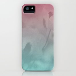 Pink Blue Poppies iPhone Case