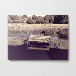 The Isolated Bench Metal Print