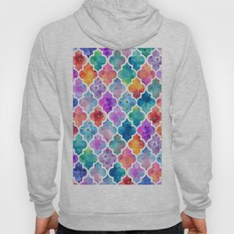 Colorful Watercolor Moroccan Pattern - I Hoody