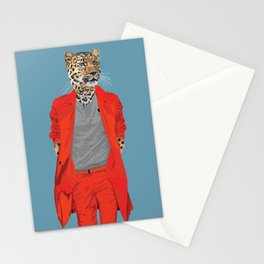 Leopard wearing Costume National Stationery Cards