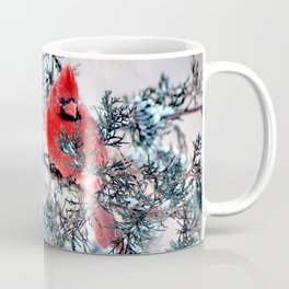 Valentine's Day Blizzard Cardinal Coffee Mug