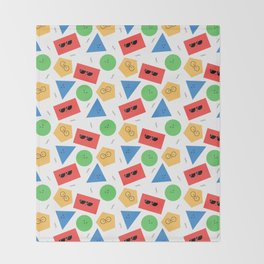Happy Shapes Throw Blanket