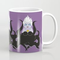 ursula Mugs featuring Kokeshi Sea witch by Pendientera