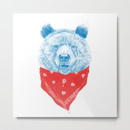 Wild bear (color version) Metal Print