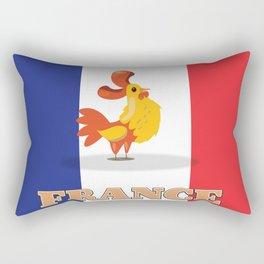 France cockerel travel poster Rectangular Pillow