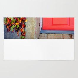 Leaves and Door Rug