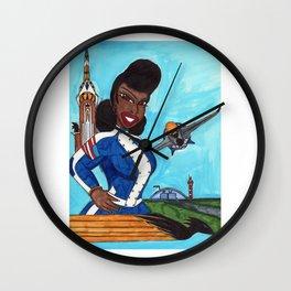 The Aviatrix of Avalon City Wall Clock