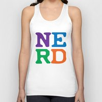 nerd Tank Tops featuring Nerd by Jenna Allensworth