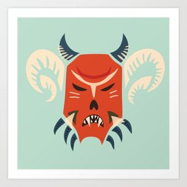 Kuker Evil Monster Mask Art Print