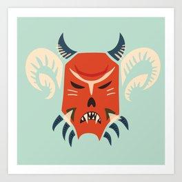 Kuker Evil Monster Mask Art Print