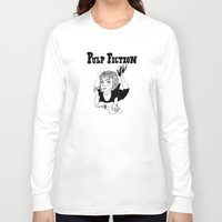 pulp Long Sleeve T-shirts featuring Pulp Fiction by ☿ cactei ☿