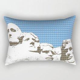 Mount Rushmore - Blue Rectangular Pillow