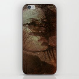 Autumn portrait iPhone Skin