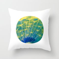 dandelion abstract Throw Pillow