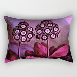 Magenta Auriculas Temple of Flora Rectangular Pillow