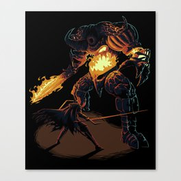 The Smelting Canvas Print