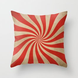 Big Top Aged Print in Red Throw Pillow
