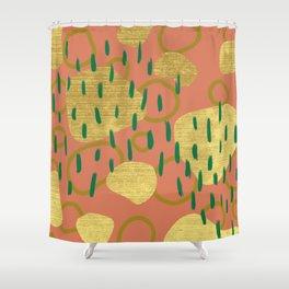 The Golden Jungle Shower Curtain