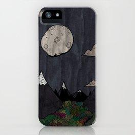 Moon Mountsins iPhone Case