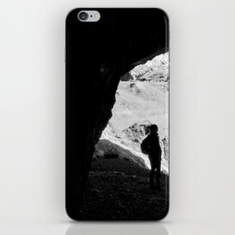 Cave in Iceland iPhone Skin