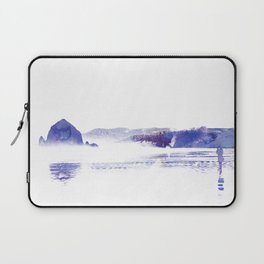 Haystack Rock watercolor Laptop Sleeve