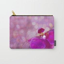 Pink Orchid Mixed Media Art Carry-All Pouch